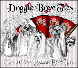 Doggie Bow Ties Show Dog Bows